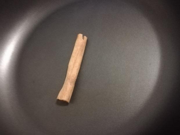 Cinnamon stick in a pot
