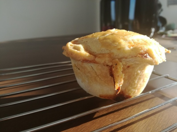 Baked Chicken Pie on cooling rack